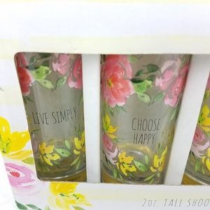 tmd holding Dining - Tall Shooters Set of 4 Inspirational Floral Design